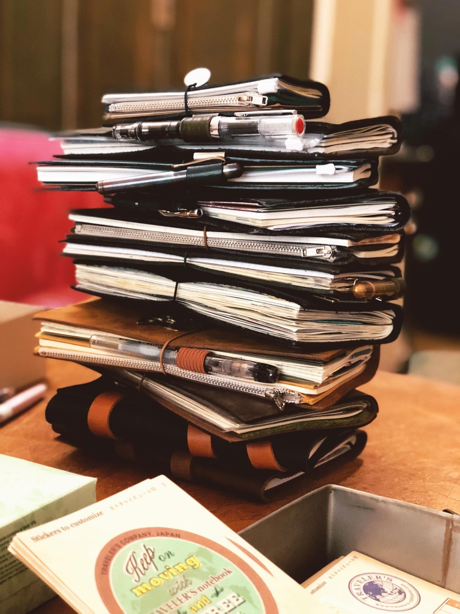 Stack of Traveler's Notebooks